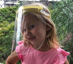 Imagem - Face Shield Infantil - Máscara de Proteção Facial - Amarelo cód: 1207