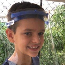 Imagem - Face Shield Infantil - Máscara de Proteção Facial - Azul cód: 1152
