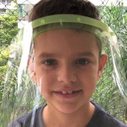 Imagem - Face Shield Infantil - Máscara de Proteção Facial - Verde cód: 1206