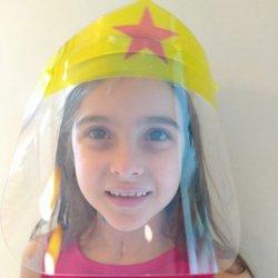 Imagem - Face Shield Infantil - Mulher Maravilha (Máscara de Proteção Facial) cód: 1244