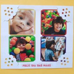 Foto Imã Dia das Mães | Cartão Borda Crochê
