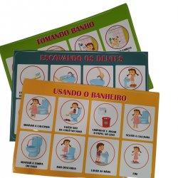 Imagem - Kit de Adesivos Rotinas Passo a Passo - Menina cód: 2455