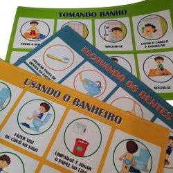 Imagem - Kit de Adesivos Rotinas Passo a Passo - Menino cód: 2454