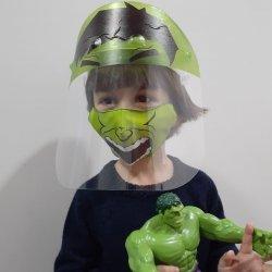 Imagem - Kit Hulk (Face Shield Infantil + Máscara de tecido) - 3 a 7 anos cód: 1716