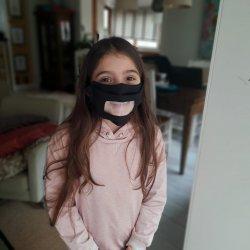 Imagem - Máscara Inclusiva 3D - Infantil - 8 a 12 anos (Preta) cód: 1925