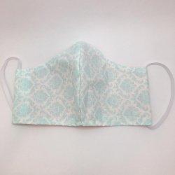 Imagem - Máscaras Tecido Duplo - Com filtro - Adulto - Branco e Turquesa cód: 1232