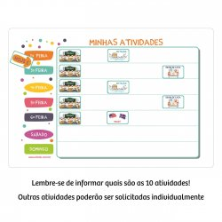 Imagem - Quadro de Atividades com 10 atividades cód: 2337