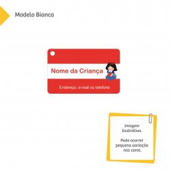 Imagem - Tag para Mochila Escolar - Princesas - v1135
