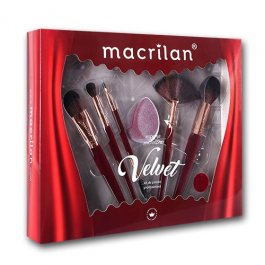Imagem - Kit De Pincel Velvet Vermelho - Macrilan cód: 5905