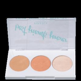 Imagem - Paleta de Maquiagem BFF 02 (Contorno, Blush e Iluminador) - Vizzela cód: 6191