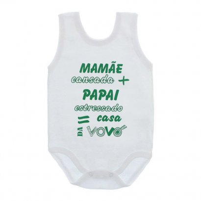 Body Bebê Regata Frases