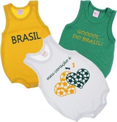 9cb0a0793e Body para Bebê - Copa Brasil 6464