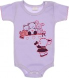 Body Manga Curta - Bebê Carinho - REF. 6276