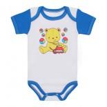 Body para Bebê Manga Curta Colorida Estampada