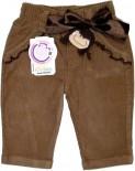 Calça de bebê em Veludo Menina Boneca - 5313