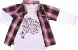 Conjunto Infantil - Calça / Camisão e Camiseta - Xadrez REF.  6737