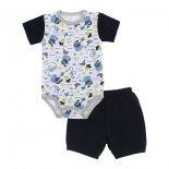 Conjunto Body Estampado com Short para Bebê