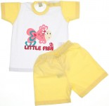 Conjunto Shorts e Camiseta Bebê Peixinha