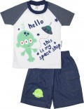 Conjunto de Camiseta e Shorts Space Ship 4835