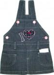 Jardineira Jeans - Bebê Love REF. 5583