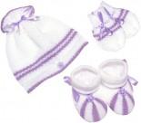 Kit Bebê de Touca, Luva e Pantufa de Lã 2458