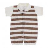 Macacão Curto para Bebê Lapuko Listrado
