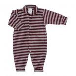 Macacão de Bebê Longo Listrado