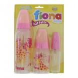 Mamadeiras Fiona Rosa Kit 3 pcs - 8878