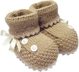 Pantufa Botinha de Lã Bege 3286