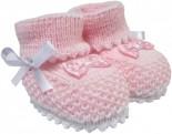 Pantufa Botinha de Lã Rosa 3309