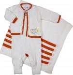 Saída de Maternidade Artesanal em Linha Avião REF. 6299