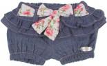 Shorts Jeans Infantil Flor de Babado REF. 6335