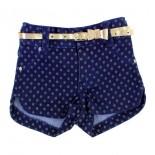 Shorts Jeans com Cinto Dourado 8617