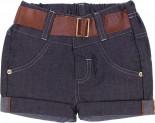 Shorts Jeans Cinto Marrom em couro - 6312