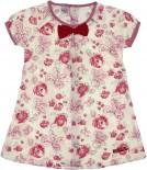 Vestido Infantil Estampa de Flores 6739