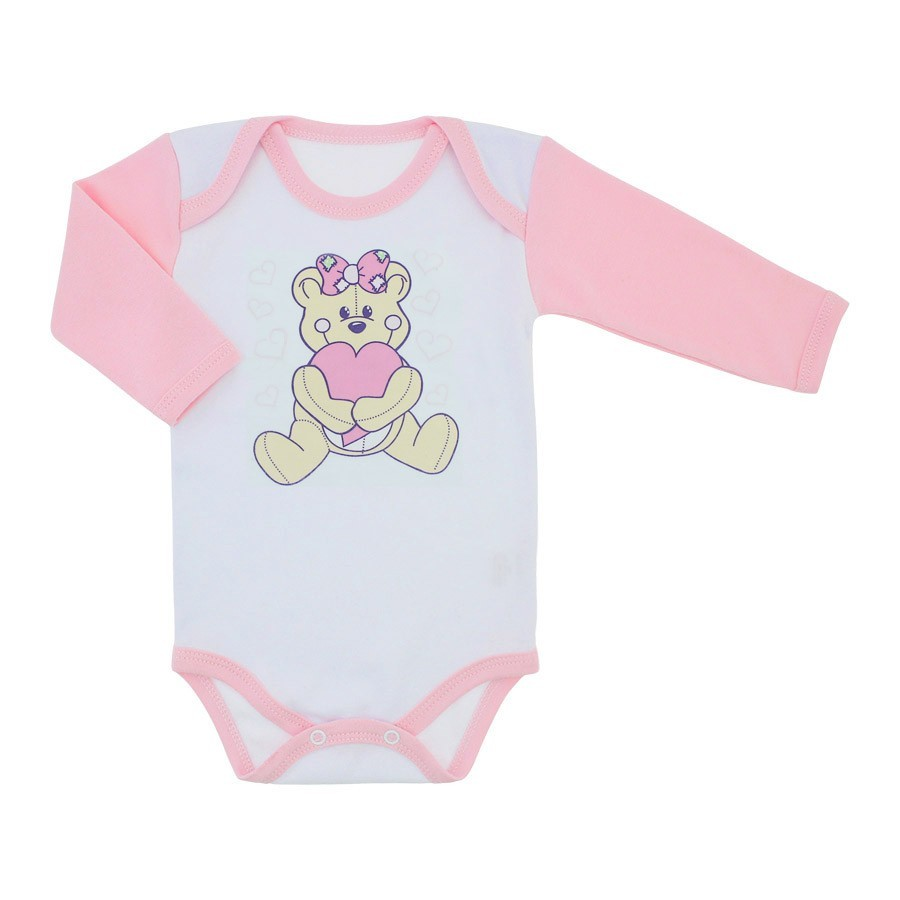 c4e93c770 Body Bebê Menina Manga Longa