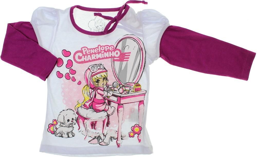 Camiseta Infantil - Manga Longa - Charminho 5964 2bc2b88d88e