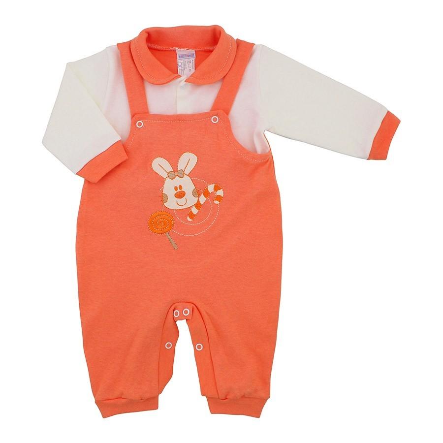 decb08734e385 Macacão de Bebê Jardineira Menina Doces 9945