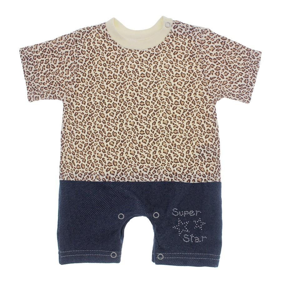 d4c936570 Macacão de Bebê Curto Menina Estampado Lapuko