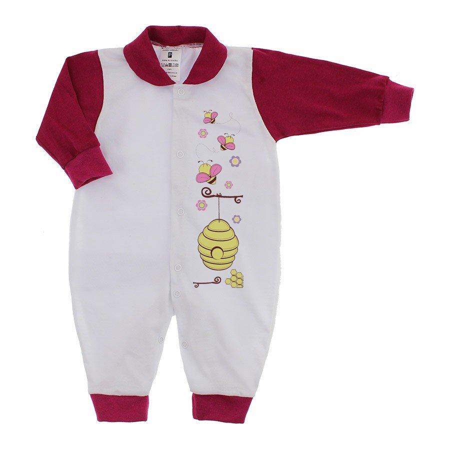 bee31764b Macacão Longo para Bebê Menina Lapuko