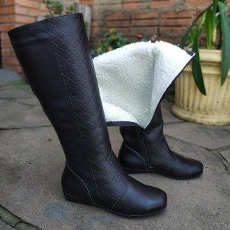 Imagem - Bota couro forro em lã térmica sintética Amsterdã