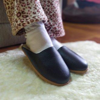 Imagem - Pantufa | Chinelo de lã em couro forrada em lã de ovelha Bento