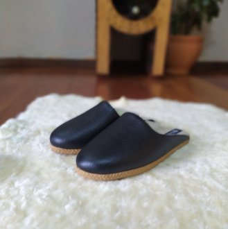 Imagem - Pantufa | Chinelo de lã em couro forrada em lã térmica sintética Bento - 8501