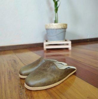 Imagem - Pantufa | Chinelo de lã em couro forrada em lã térmica sintética Bento