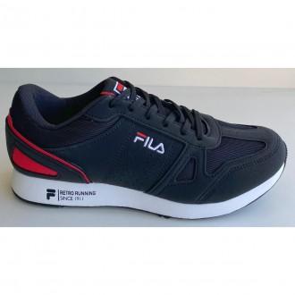 Imagem - Tenis Fila F01l039 397 Classic Runner Pto/bco/verm - 57F01L0393971