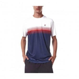 Imagem - Camiseta Fila F11tn518087 324 Aztec Box Colors Marinho/bco/v - 57F11TN5180873245