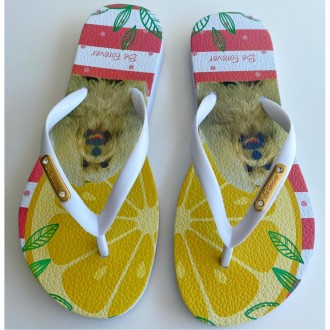 Imagem - Chinelo Rafitthy 110.11702b 5 Dog Tropical Orange - 88110.11702B52