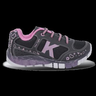 Imagem - Tenis Kidy 020-1102-3789 Flex Light Grafite/rosa - 105020-1102-378957