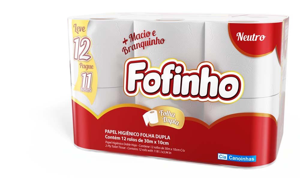 Imagem - Papel Higiênico Fofinho Folha Dupla Neutro com 12un. cód: 1-0008