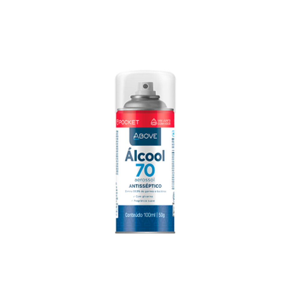 Imagem - Álcool Aerossól Above 70% Pocket | Cor:   cód: 18-0025